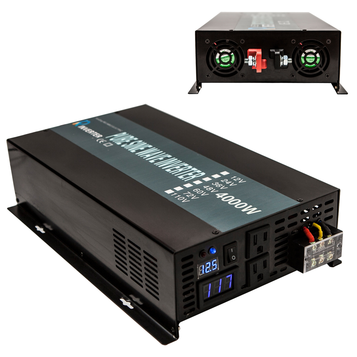 4000W Off Grid DC to AC Pure Sine Wave Solar Power Inverter